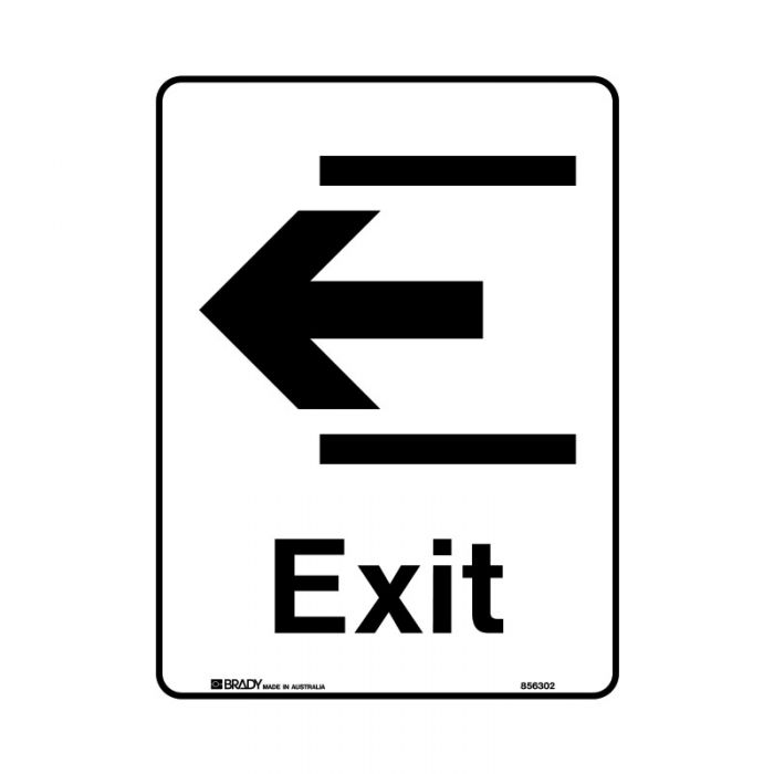856303 Public Area Sign - Exit Left
