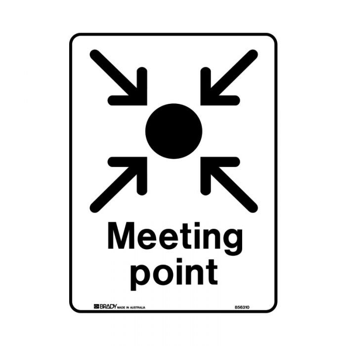 856312 Public Area Sign - Meeting Point