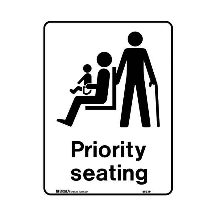 856316 Public Area Sign - Priority Seating