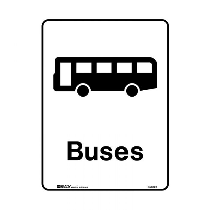 856323 Public Area Sign - Buses