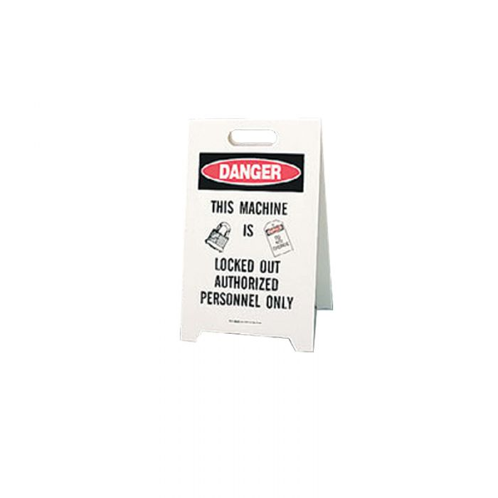 856840 Lockout Floor Stand Danger Do Not Operate Machine Locked Out