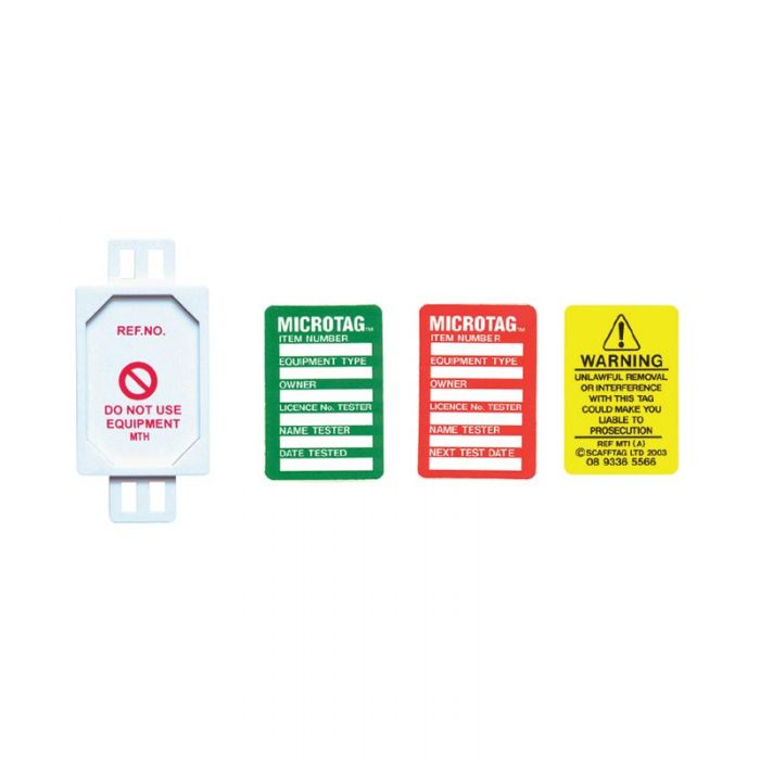 857065 Microtag Next Test Date Insert Red