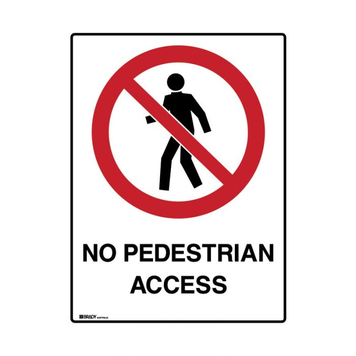 858900 Mining Site Sign - No Pedestrian Access