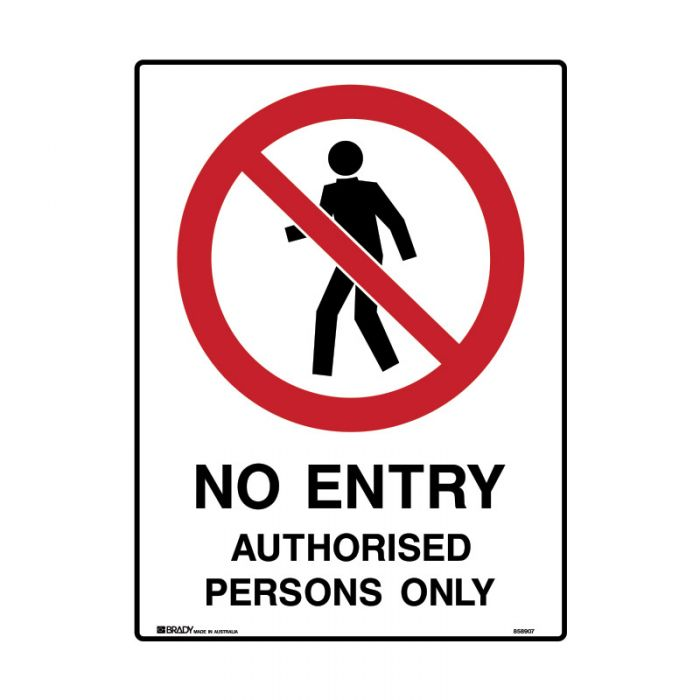 858911 Mining Site Sign - No Entry Authorised Persons Only