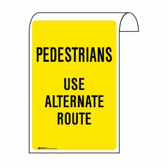 859216 Scaffolding Sign - Pedestrians Use Alternate Route