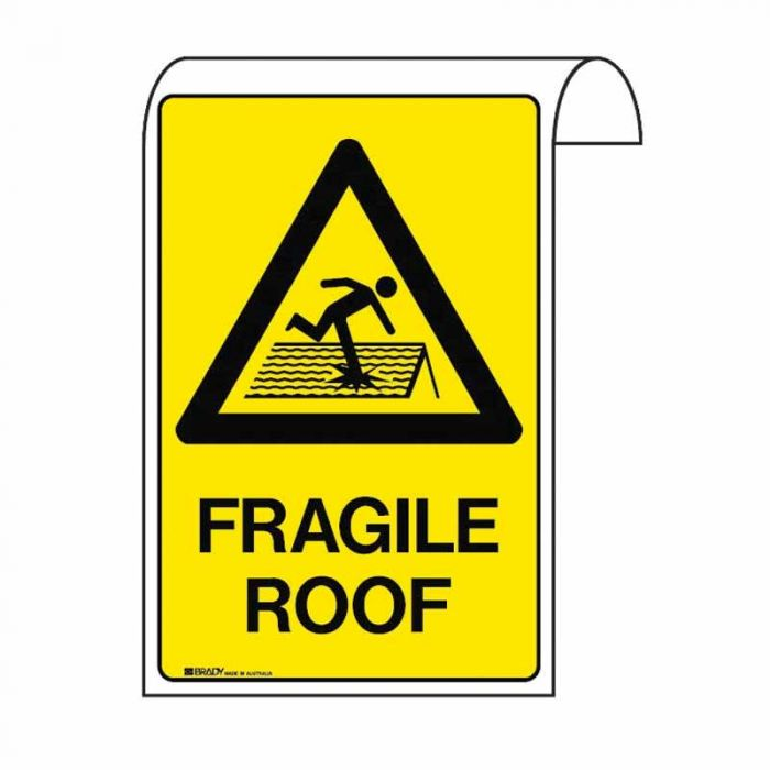861128 Scaffolding Sign - Fragile Roof