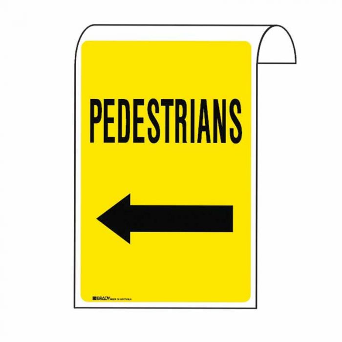 861130 Scaffolding Sign - Pedestrians Arr-L