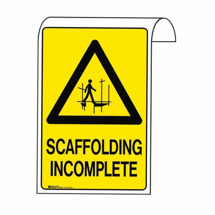 861132 Scaffolding Sign - Scaffolding Incomplete