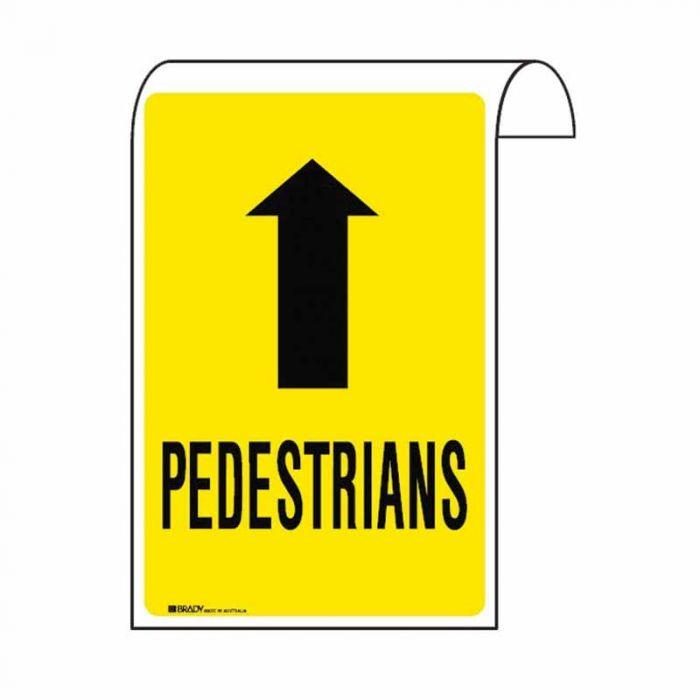861134 Scaffolding Sign - Pedestrians Arr-U