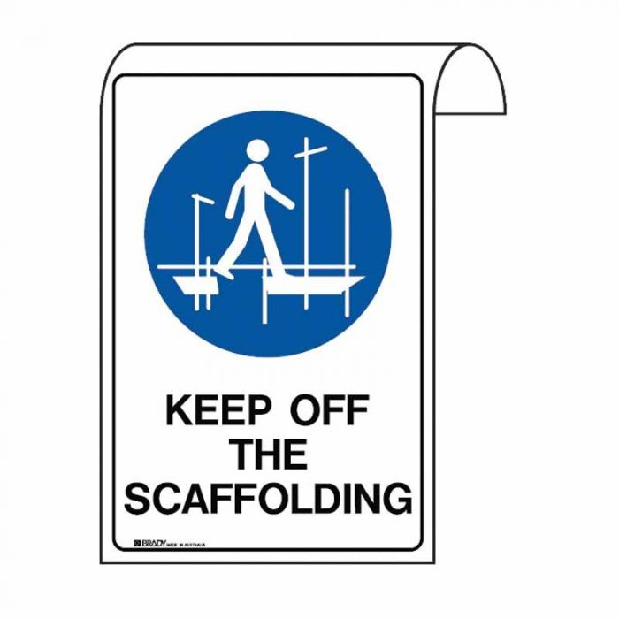 861139 Scaffolding Sign - Keep Off The Scaffolding