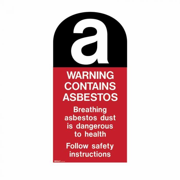 862904 Asbestos Sign - A Warning Contains Asbestos