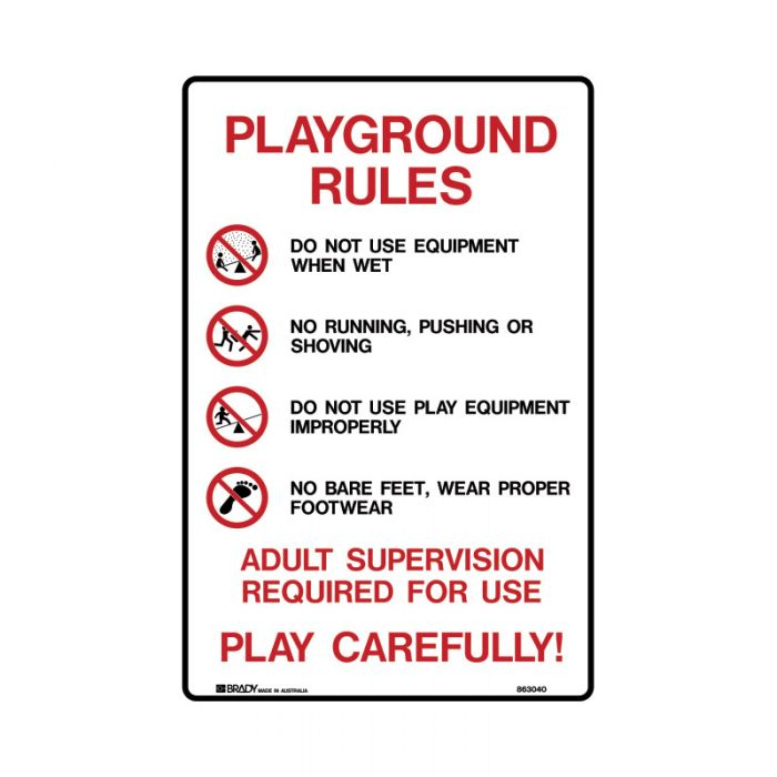 863040 Park Sign - Playground Rules..