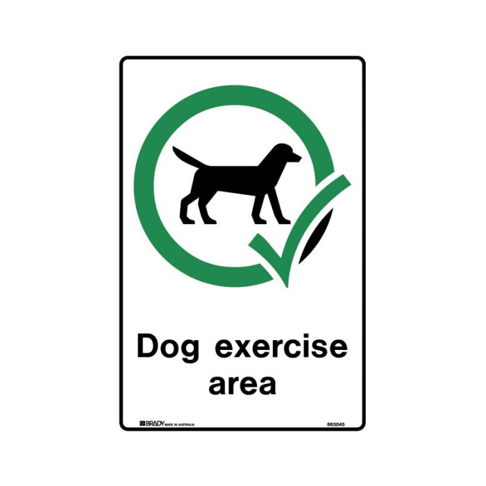 863046 Park Sign - Dog Exercise Area