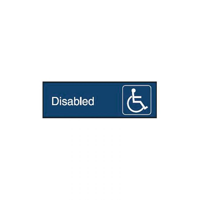 863074 Engraved Office Sign - Disabled + Symbol