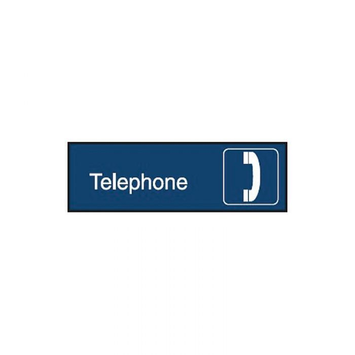 863079 Engraved Office Sign - Telephone + Symbol