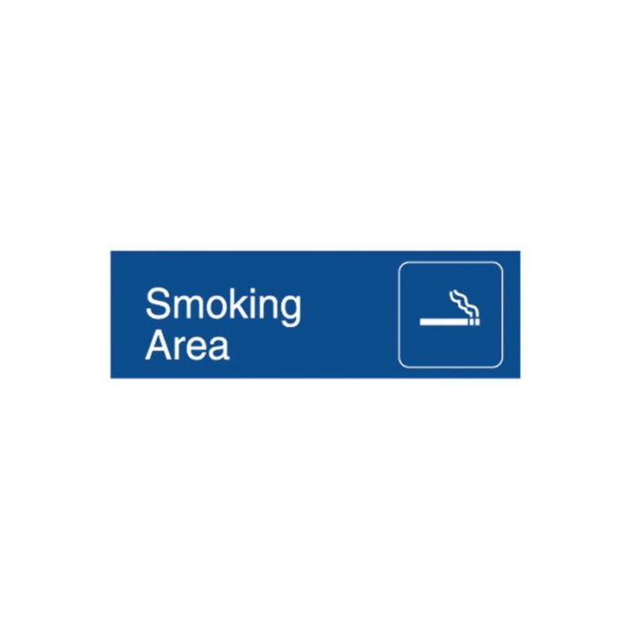863081 Engraved Office Sign - Smoking Area