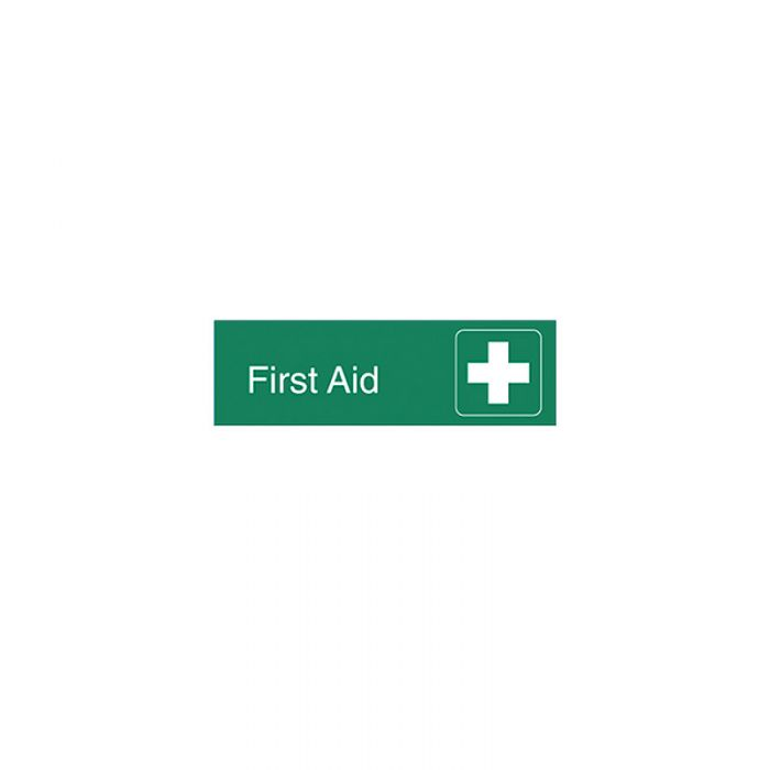 863082 Engraved Office Sign - First Aid + Symbol