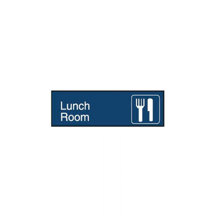 863084 Engraved Office Sign - Lunch Room + Symbol