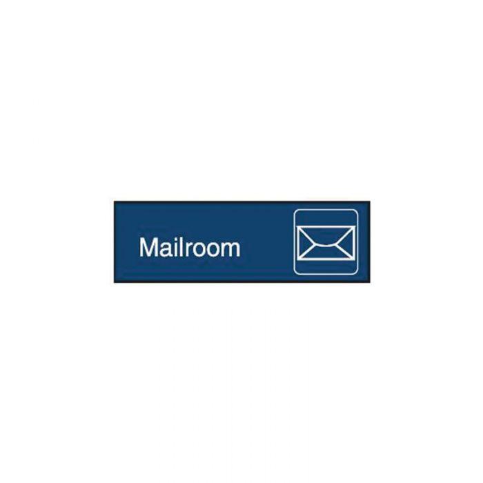 863086 Engraved Office Sign - Mailroom + Symbol