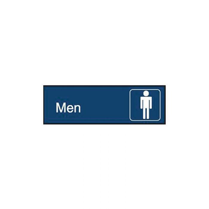 863090 Engraved Office Sign - Men + Symbol