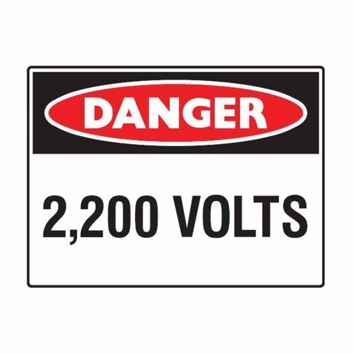 863669 Electrical Hazard Sign - Danger 2