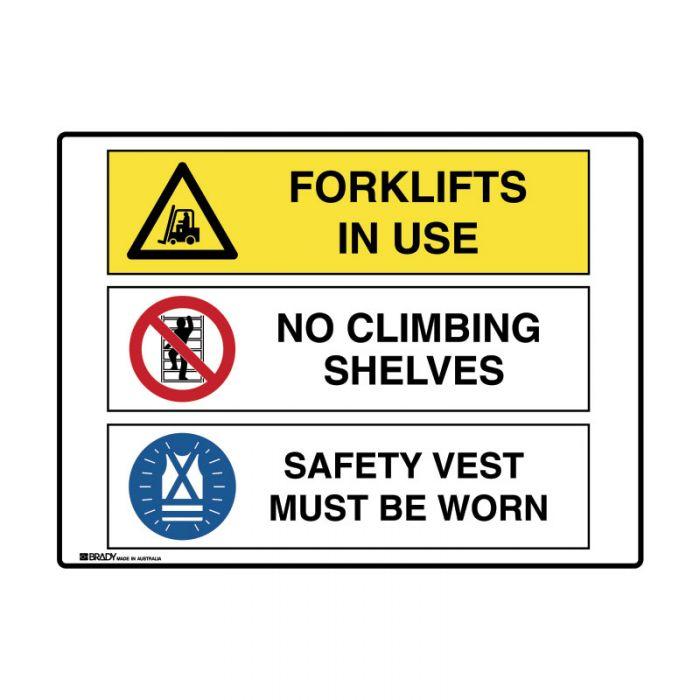 871516 Multiple Message Sign - Forklifts