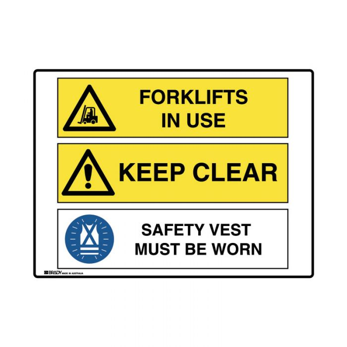 871524 Multiple Message Sign - Forklifts Clear