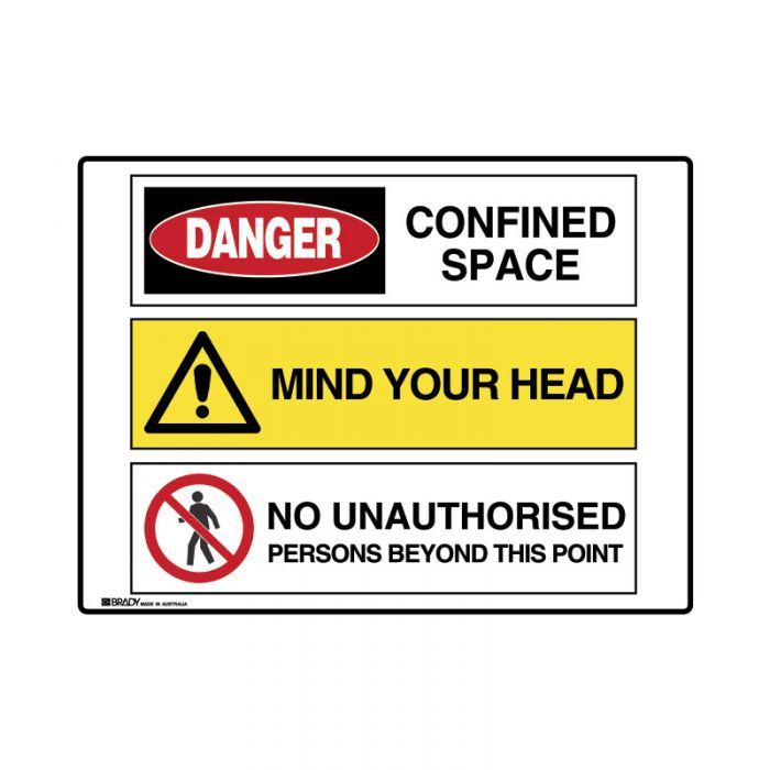 871533 Multiple Message Sign - Confined Space