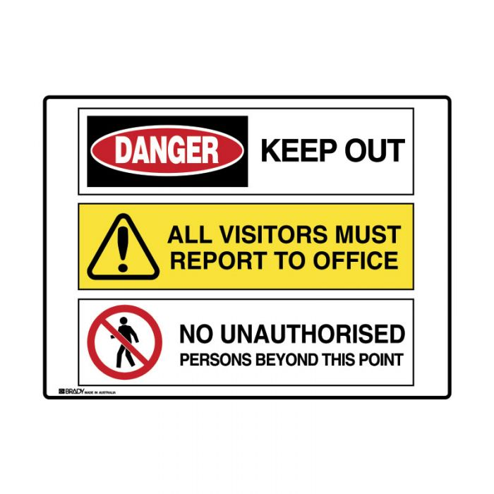 871538 Multiple Message Sign - Keep Out