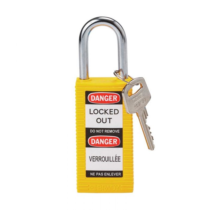 875475 Safety Padlocks - Long Body - Yellow