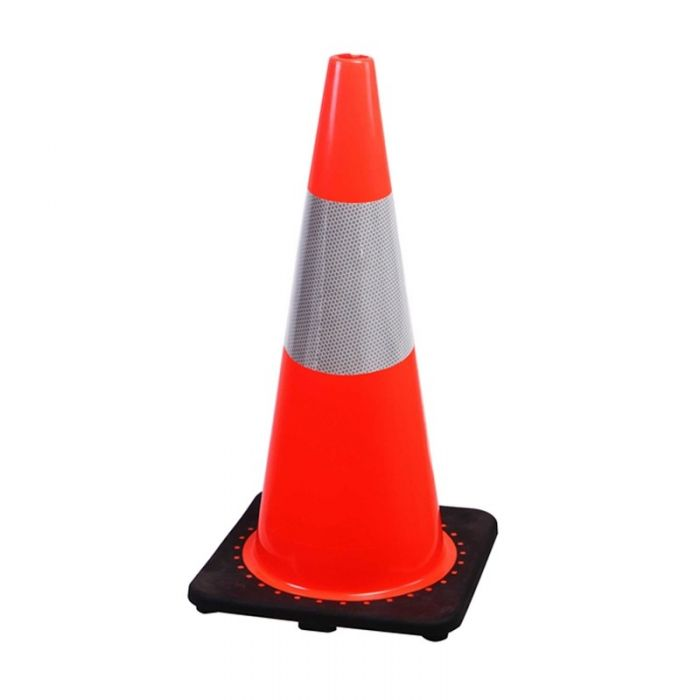 Value Traffic cone with reflective 700mm