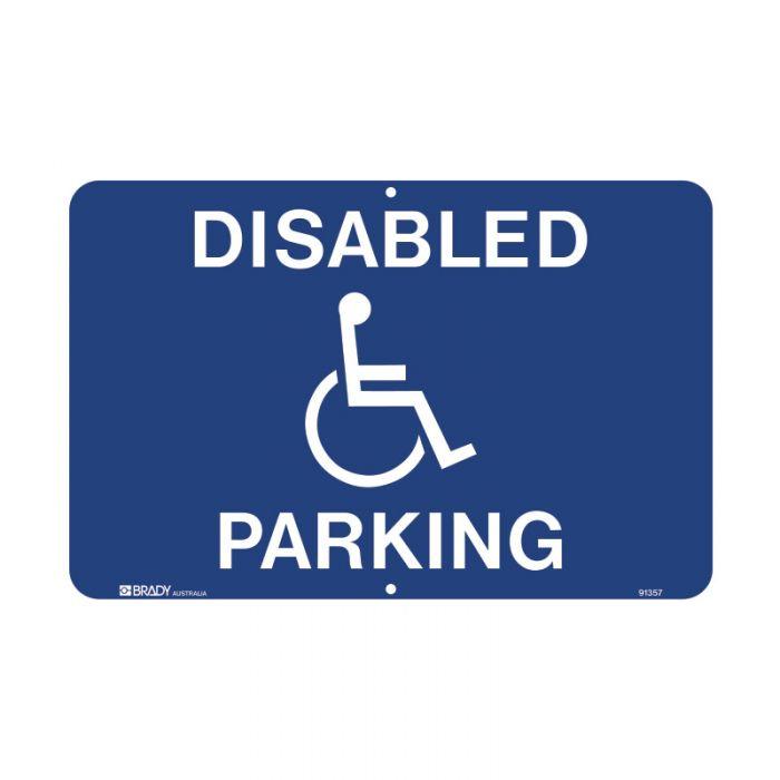 91357 Accessible Traffic & Parking Sign - Disabled Parking Landscape