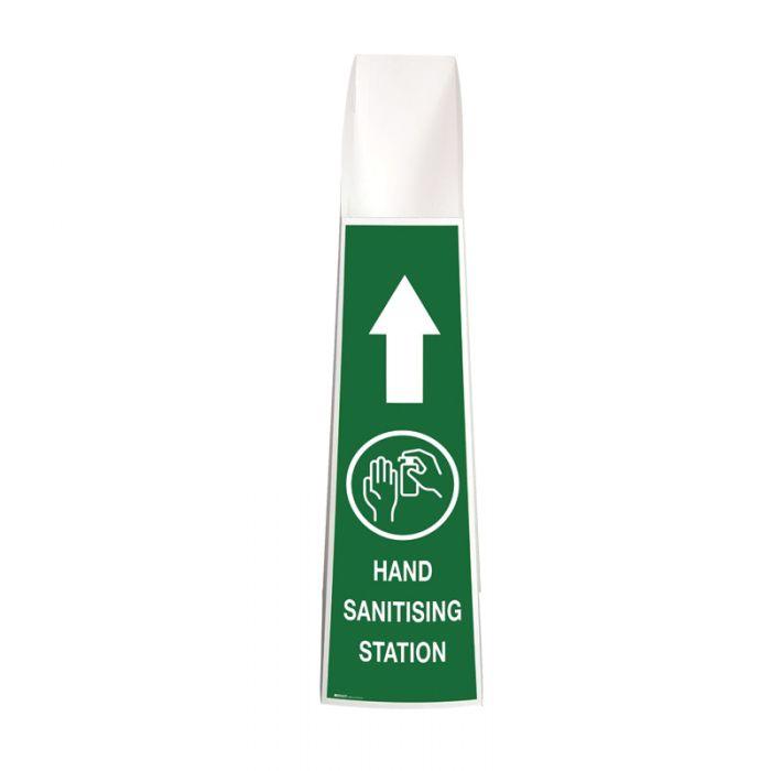 Hand Sanitising Station Floor Stand - Green
