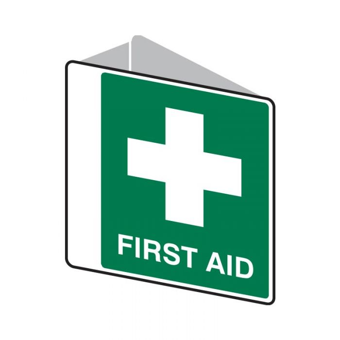Emergency Information Sign - First Aid (Polypropylene) H225mm x W225mm