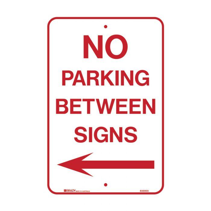 PF832003 Parking & No Parking Sign - No Parking Between Signs Arrow Left