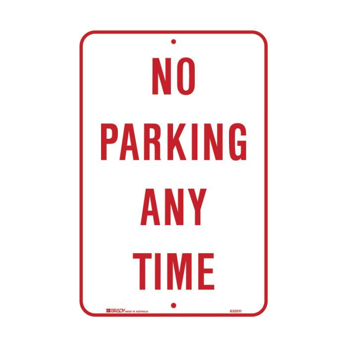 PF832011 Parking & No Parking Sign - No Parking Any Time