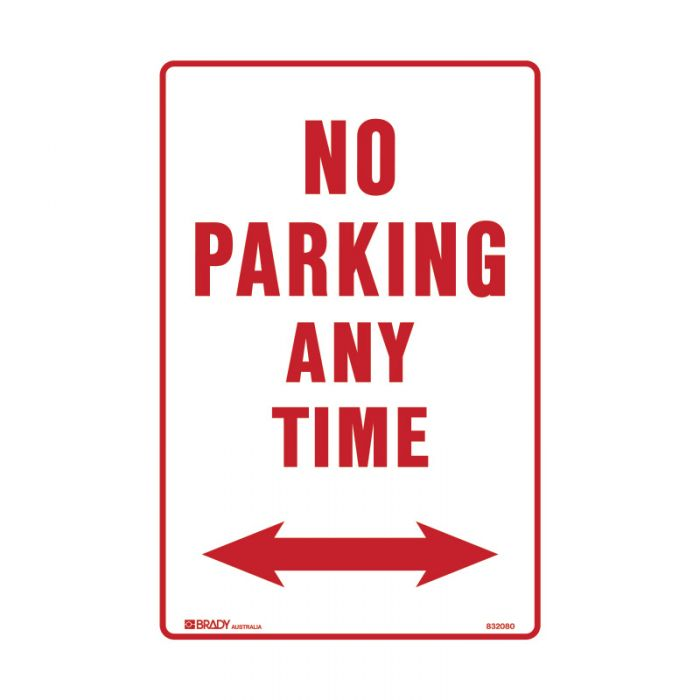 PF832024 Parking & No Parking Sign - No Parking Any Time Arrow Both Ways