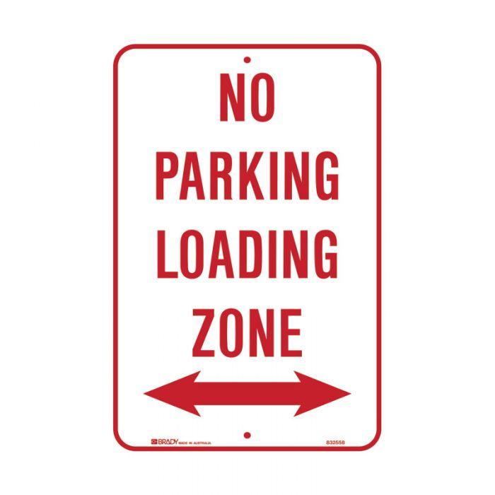 PF832558 Parking & No Parking Sign - No Parking Loading Zone Arrow Both Ways