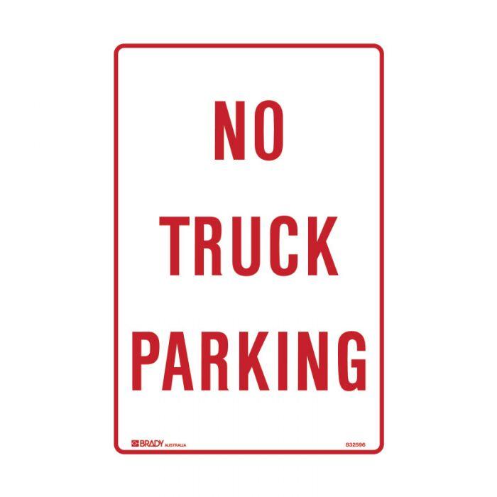 PF832595 Parking & No Parking Sign - No Truck Parking