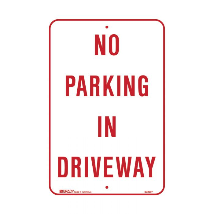 PF832597 Parking & No Parking Sign - No Parking In Driveway