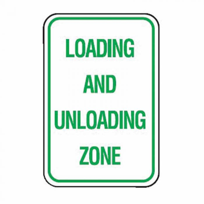PF832779 Parking & No Parking Sign - Loading And Unloading Zone