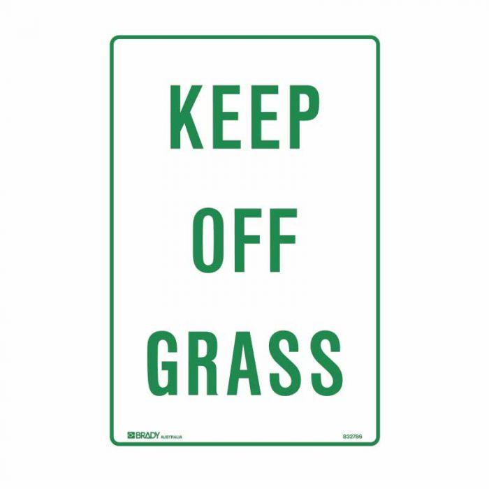 PF832785 Parking & No Parking Sign - Keep Off Grass