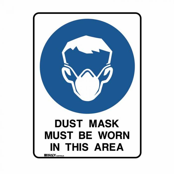PF834028 Building & Construction Sign - Dust Mask Must Be Worn In This Area