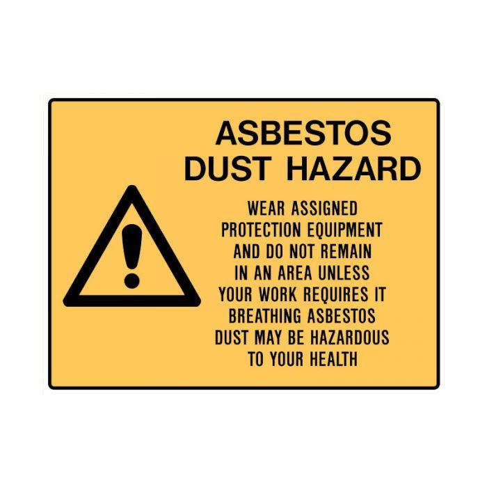 PF835085 Asbestos Sign - Asbestos Dust Hazard