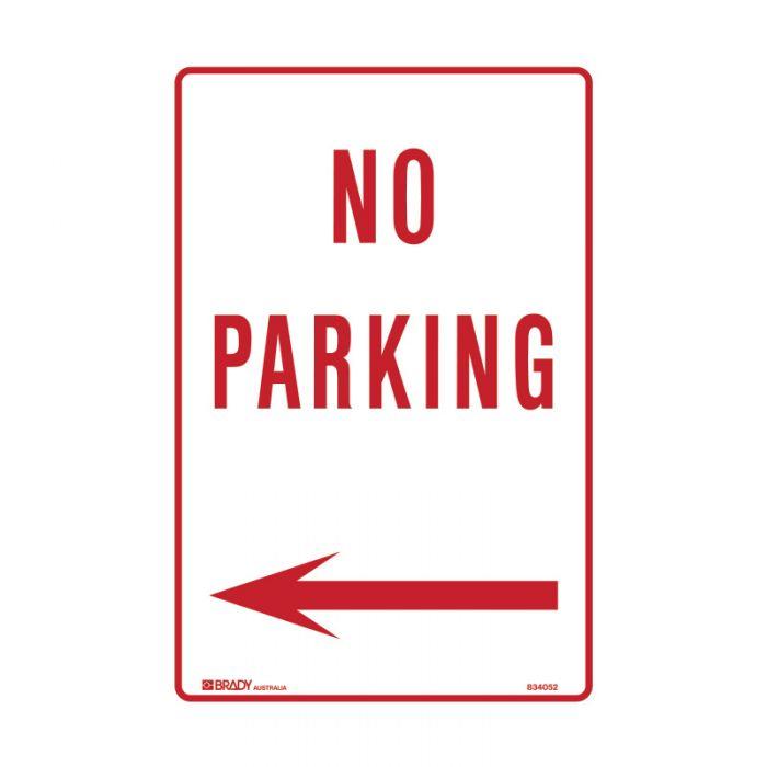 PF835700 Parking & No Parking Sign - No Parking Arrow Left
