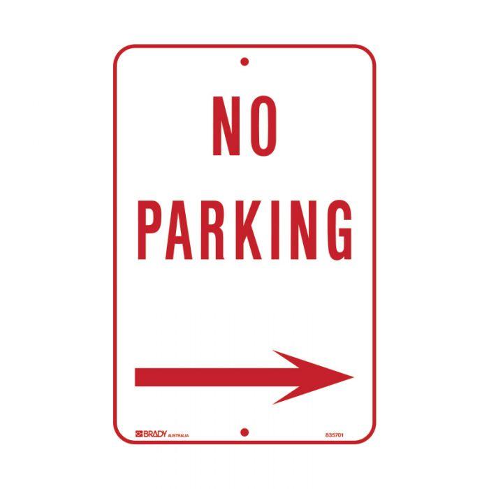 PF835701 Parking & No Parking Sign - No Parking Arrow Right