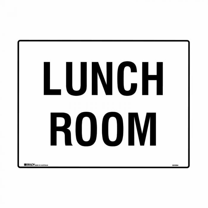 PF839160 Building & Construction Sign - Lunch Room