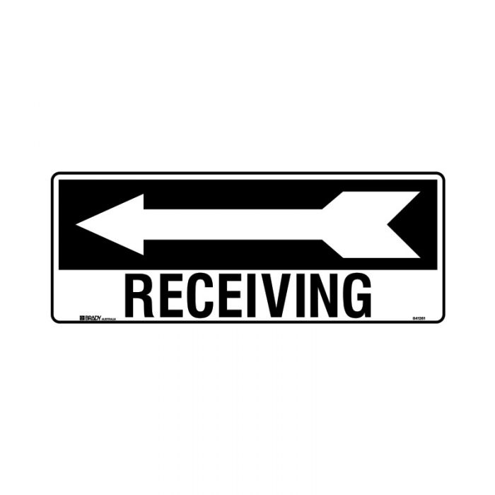 PF841262 Directional Sign - Receiving Arrow Left