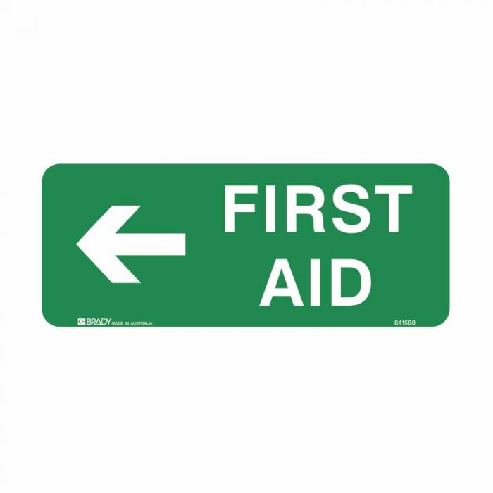PF841569 Emergency Information Sign - First Aid Arrow Left