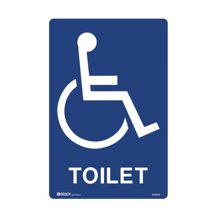 PF841842 Accessible Traffic & Parking Sign - Toilet